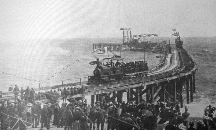 Hastings: Opening of harbour arm 1875