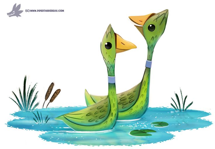 Daily Paint #1214. Asparageese by Cryptid-Creations.deviantart.com on @DeviantArt