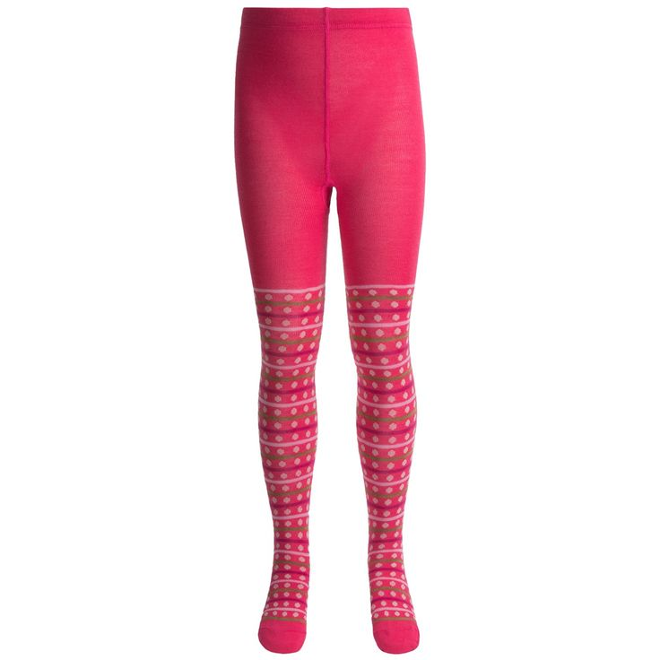 SmartWool Dappled Tights - Merino Wool (For Girls) in Punch