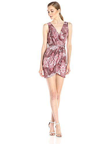 BCBGeneration Women's Low Neck Dress with Tulip Skirt, Cedar Rose Combo, 2 - http://best-women-shop.xyz/2016/06/29/bcbgeneration-womens-low-neck-dress-with-tulip-skirt-cedar-rose-combo-2/