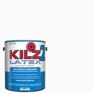 Kilz 2 All Purpose 1 Gal White Interior Exterior Multi Surface Primer Sealer And Stain Blocker 20941 The Home Depot Kilz Stained Blocks Interior And Exterior