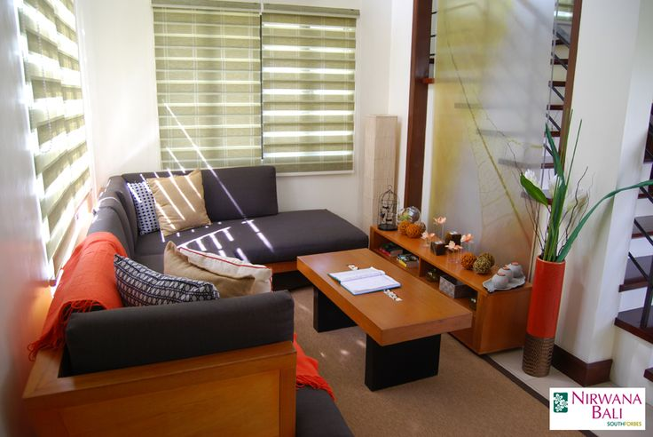 This modern house in Nirwana Bali features comfortable living room enhanced with modern Balinese style. Natural decorating materials, expensive wood and glass add character for peaceful and tranquil lifestyle that supports green living concepts.  For more details about Nirwana Bali, CLICK >> http://goo.gl/wJwdM4  #NirwanaBali #SouthForbes #Realestate #Floodfree #Laguna #Cavite #Tagaytay