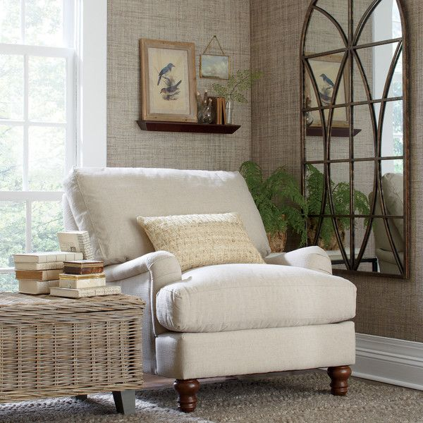 Birch Lane Montgomery Upholstered Chair | Birch Lane in Bryant Oatmeal