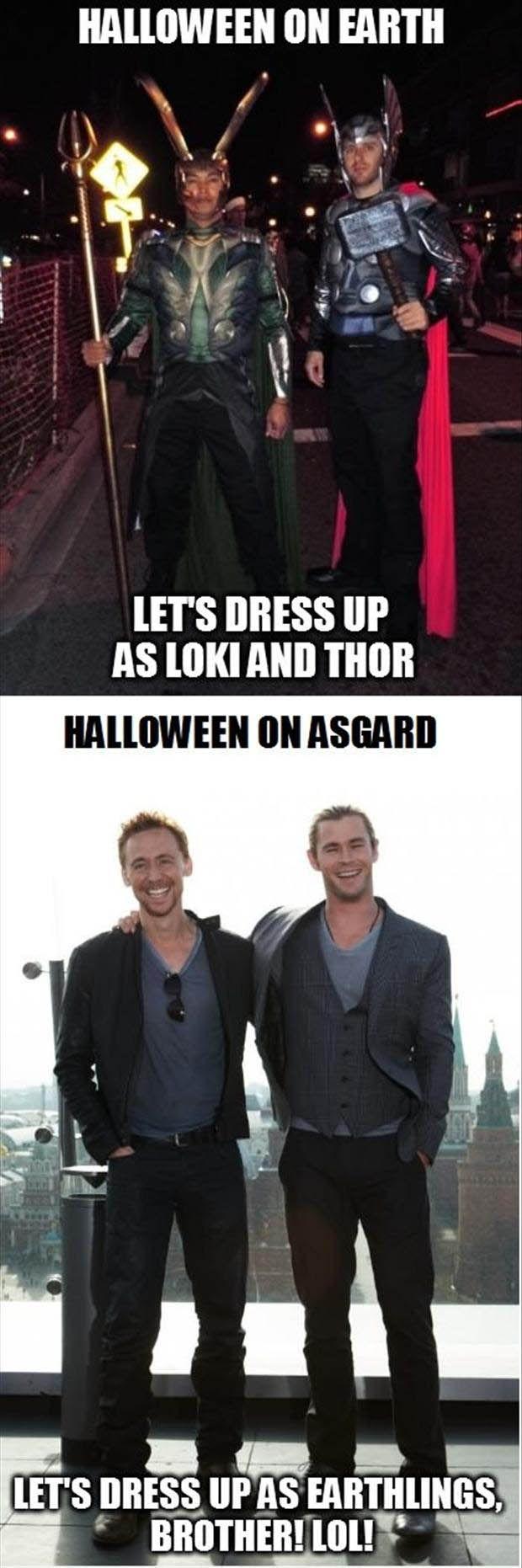 Thor and Loki hahaha