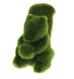 Moss turf green grass squirrel with nut / acorn by Vinyl Cuts