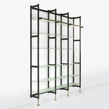 245: Jacques Adnet / shelving unit < Important Design, 18 May 2008 < Auctions | Wright