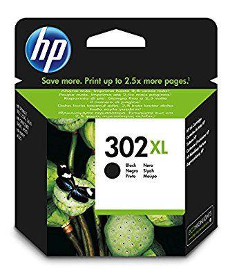 HP 302XL Black ink cartridge - Cartucho de tinta para impresoras (tamaño XL, 8.5 ml), negro