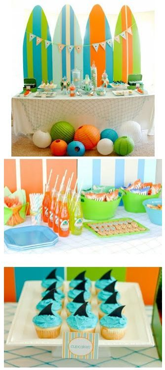 Surf Party Theme. Gonna do this for the little mans next birthday! :)