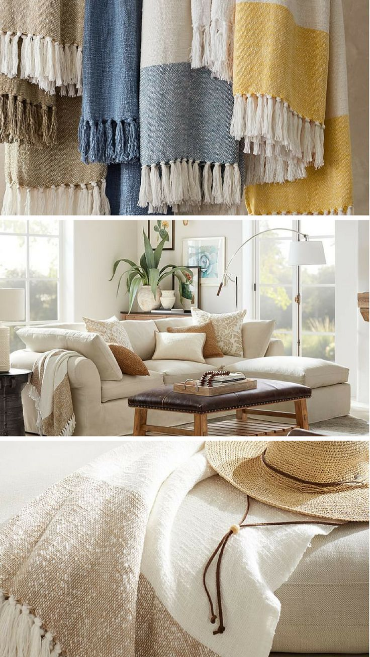 Awning Stripe Throw This Soft Handwoven Throw Is The Perfect Way To Add Cozy Comfort On Cool Summer Evenings Ad Comforters Cozy Home Decor Home