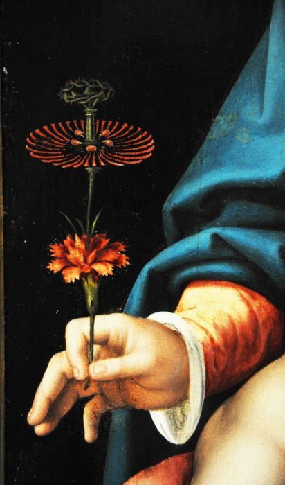 Joos van Cleve, Madonna and Child (detail) Use this pose to make your han holding something you own.
