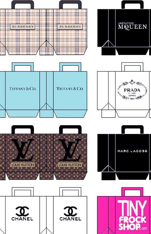 Barbie Designer Shopping Bags - DIGITAL DOWNLOAD! - Tiny Frock Shop