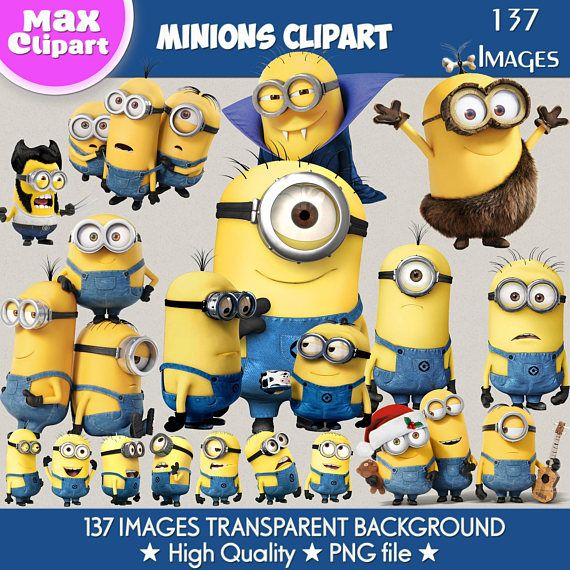 Pin By Etsy On Products Minion Clipart Clip Art Minions