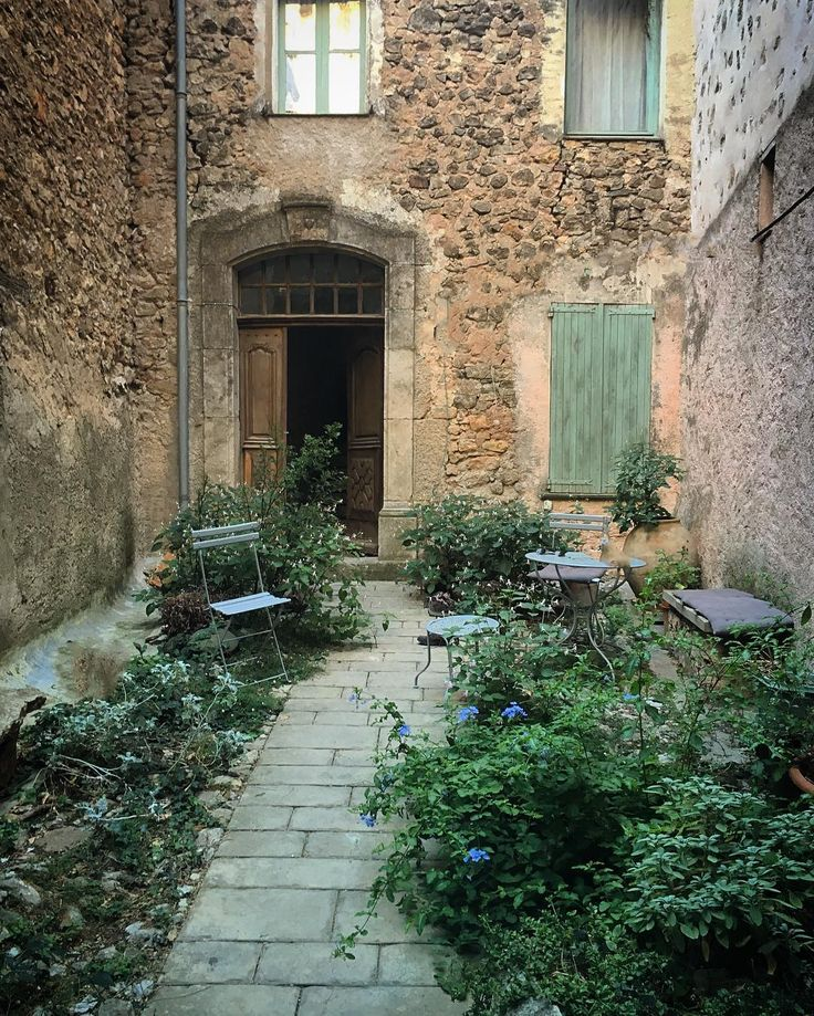 I think I could happily come home to this little courtyard each evening ... One…