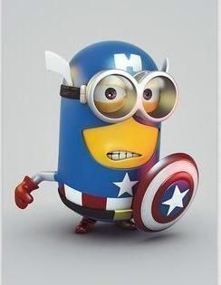 Captain America Minion!/ mixing both awesomenesses