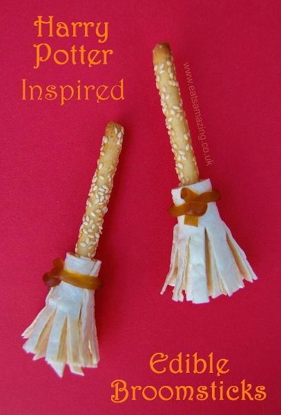 Harry Potter Inspired Food - Edible Broomsticks from Eats Amazing UK - would be great for a Harry Potter Party