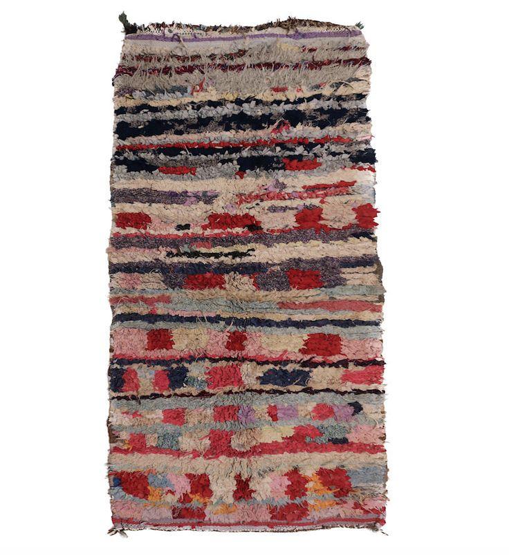 DOOR MAT 2.4ft x 5.8ft Boucherouite RUG Traditional rug Classic Design rug Moroccan Berber rug Vintage Rug Beniourain Rug Door mat rug