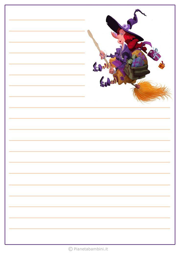 Modello di lettera alla Befana da stampare gratis n.8