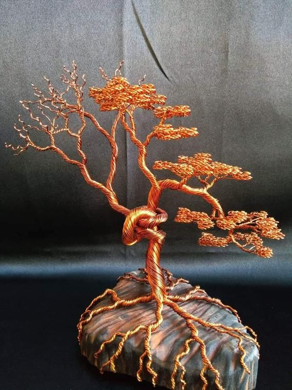 Wire tree sculpture,beaded tree,miniature wire art tree,tree of life,gemstone tree,copper wire tree statue,spirit tree,housewarming art gift