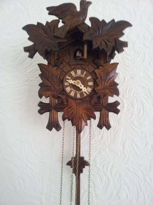 cuckoo clock of doom  we have tonnes of vintage homewares and furniture - including clocks, crockery, chairs, mirrors and lighting!