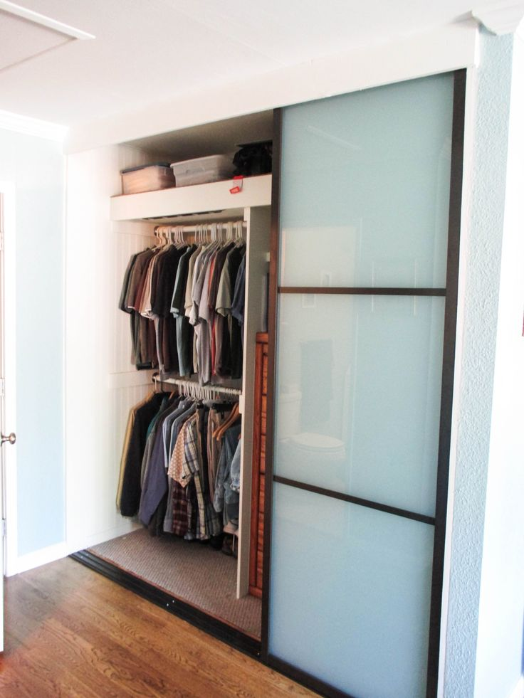 Our team installed this 3-panel, 3-track, Java-framed Closet Door system with white laminated glass and 2 dividers per panel in a bedroom. If you haven't been to our website to see all of your options for customization, go to www.chiproducts.com and dream up your new Closet Doors. :)  Call (866) 567-0400 to purchase your high-quality Closet Doors from Classic Improvement Products. We commonly install in cities like Perris, California in Riverside County.