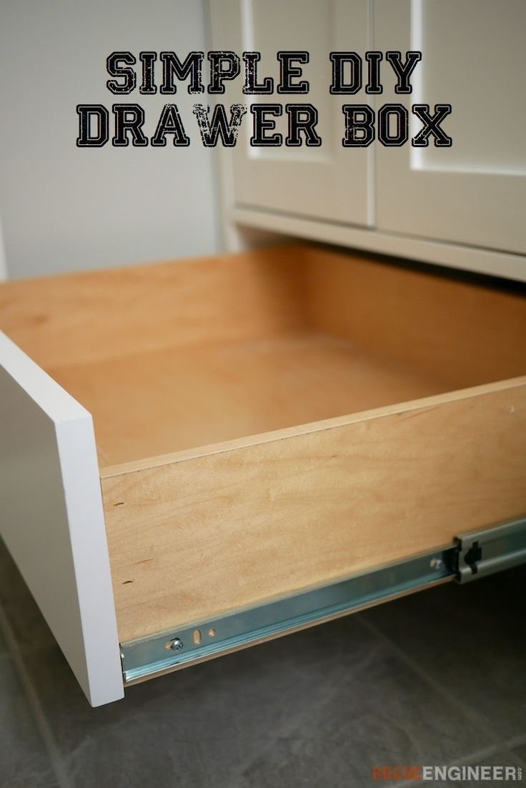How To Build A Simple Drawer Box Free Diy Plans Rogueengineer Simpledrawerbox Bedroomdiyplans