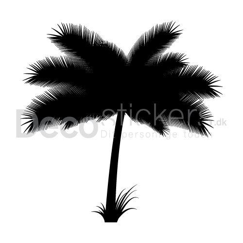 Denne wallsticker giver et præg af ferie og afslapning til dagligstuen, med tankerne tilbage til en tropeferie blandt de mange palmer.