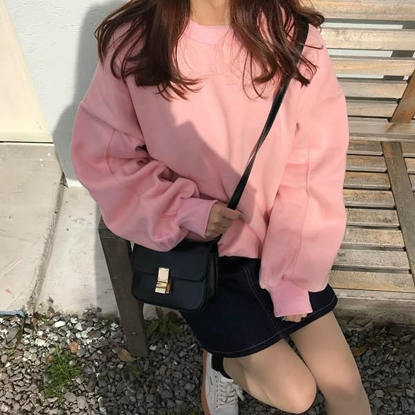 pink aesthetic sweatshirt outfit grunge