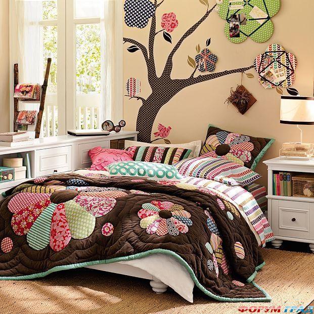 Мебель для дома и офиса. комната для девочки подростка с рисунками городов - Мебель своими руками