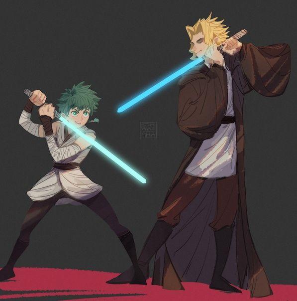 OMG STAR WARS X BNHA OMG I LOVVEE IT   Anime   My hero