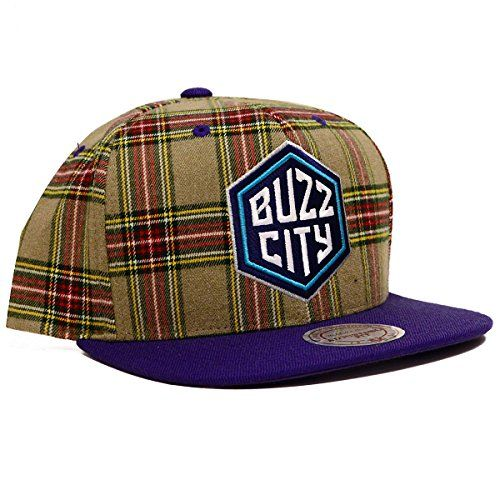 NBA Mitchell  Ness Plaid Snapback Hat One Size Charlotte Hornets ** Check this awesome product by going to the link at the image.