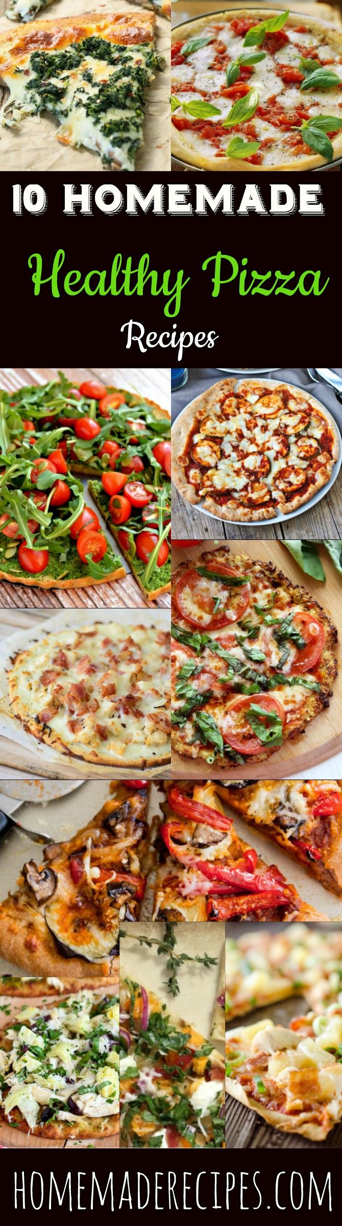 10 Homemade Healthy Pizza Recipes | Go Healthier And  Don't Sacrifice The Taste, With These Gluten Free And Delicious Pizza Recipes That Has All The Flavor Your Looking For! by Homemade Recipes at  http://homemaderecipes.com/healthy-pizza-recipes/