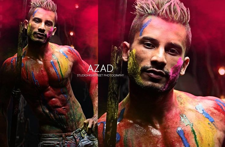 studiiohighstreet photography 9582443583 Holi Concept Body shoot  Model - Azad Khan