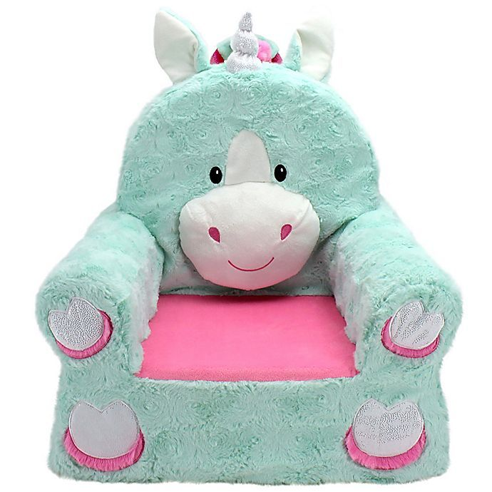 Soft Landing Premium Sweet Seats Unicorn Character Chair Buybuy Baby In 2020 Character Chairs Plush Chair Kids Chairs