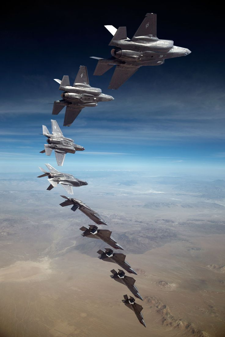 Composite photo of an F-35 testing the Manual Ground Collision Avoidance System (MGCAS)