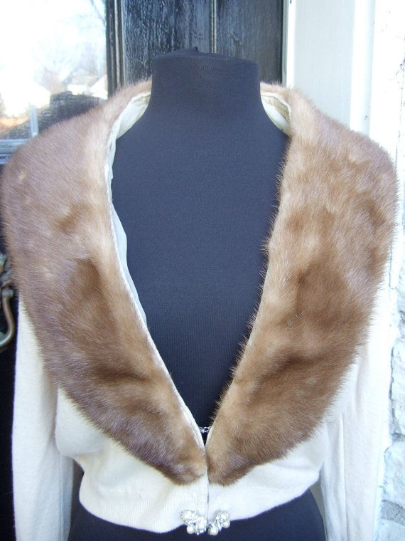 Luxurious Mink Collar Cashmere Cardigan by worldmarketproductio, $120.00