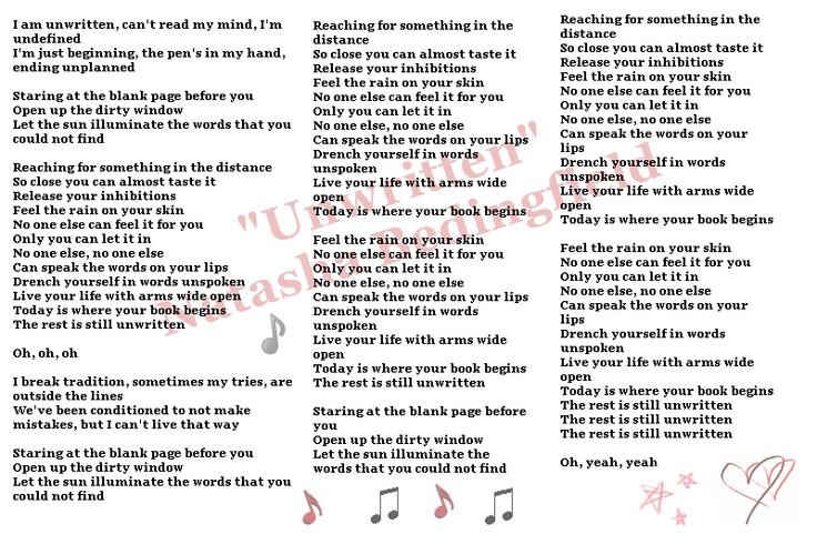 Lyrics to natasha bedingfield