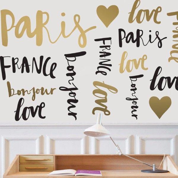 Paris in love. Words. My vinilo. vinilos decorativos. decoración de pared. papel tapiz. Decohunter. Encuentra donde comprar este producto en Colombia