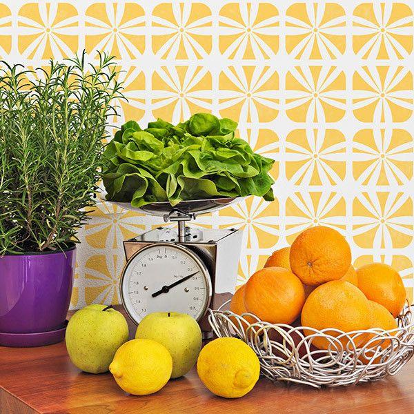 Kinetic Floral Furniture Stencil | Royal Design Studio