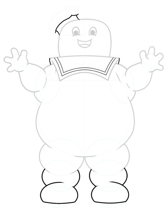 Details of the stay puft marshmallow man stay puff for Stay puft coloring page