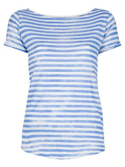 Blue striped t-shirt from MAJESTIC
