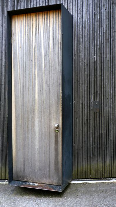 Peter Zumthor - Entry door to his Haldenstein studio