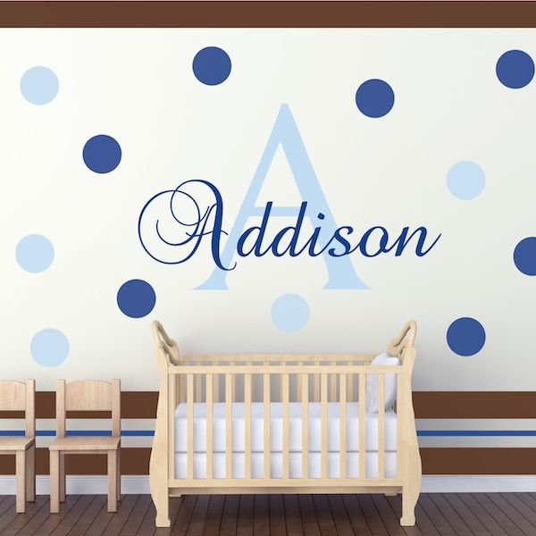 Best Nursery Room Designs Images On Pinterest Nursery Room - Monogram wall decal for kids
