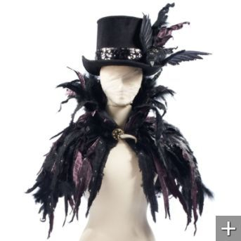 feather cape - Halloween Crow Decorations