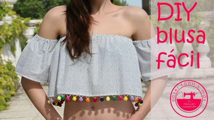 DIY blusa fácil, crop top off the shoulder