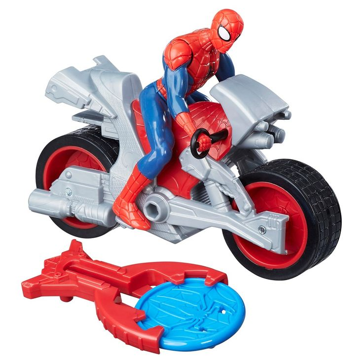 Spider-Man, Marvel  Blast N' Go Racer Spider-Man Action Figure with Cycle