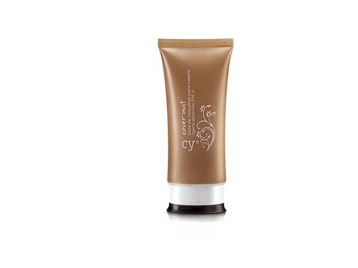 Cy° Cover Mat de Cyzone - Base de maquillaje para rostro ligera antibrillo FPS 11. www.cyzone.com #PrimerasVecesByCyzone