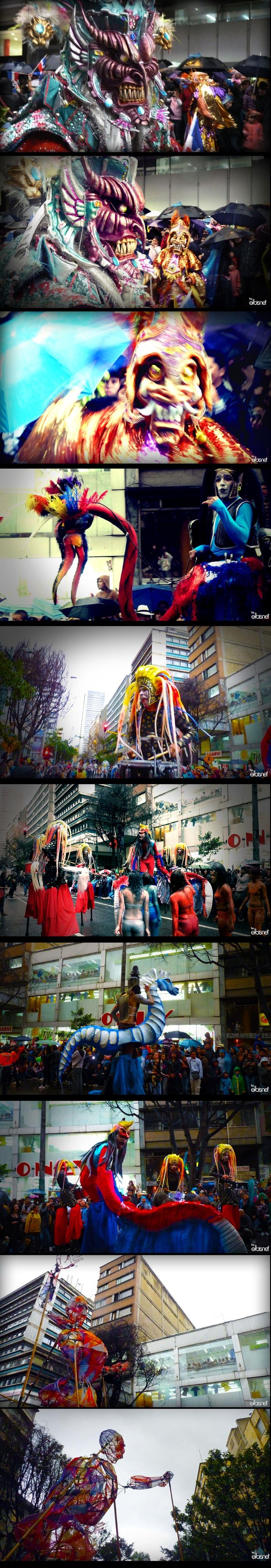 El desfile del Festival Iberoamericano de Teatro de Bogotá, en el lente de @elbisnet #ViveElTeatro