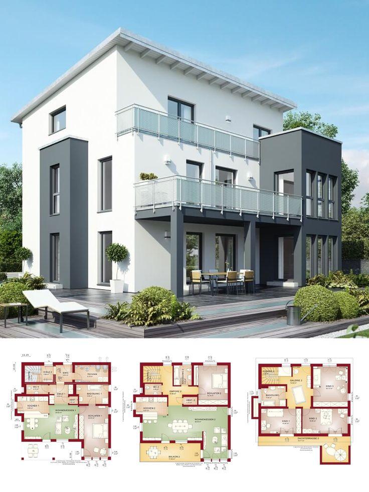 Modernes Zweifamilienhaus mit Einliegerwohnung & Pultdach