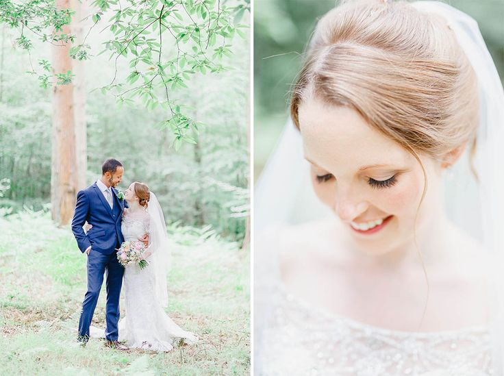 Couple Portraits at Cain Manor in Surrey - The woodlands surrounding the venue are an absolutely beautiful backdrop for the bride & groom