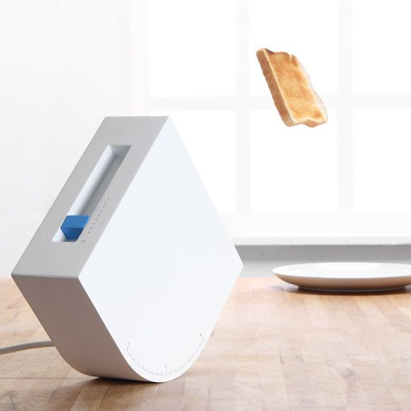 Trebuchet Toaster: Set the angle and the force to target your plate.  YES!!! lets do this jetsons style: Angles, Breakfast In Beds, Gadgets, Plates, Stuff, Breads, Kitchens Products, Trebuchet Toaster, Design